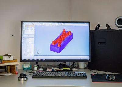 Cimatron / CAM Software für die Konstuktion der Elektroden